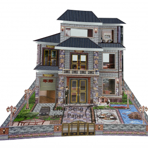 3 Storey Paper Private House for Qing Ming Festival (清明节)